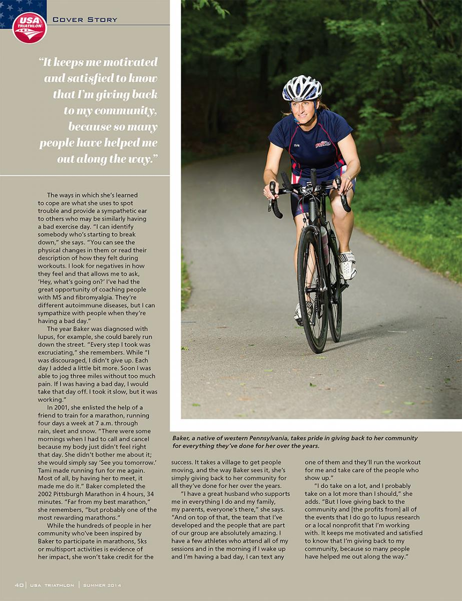 USA Triathlon, feature story on triathlete Joella Baker