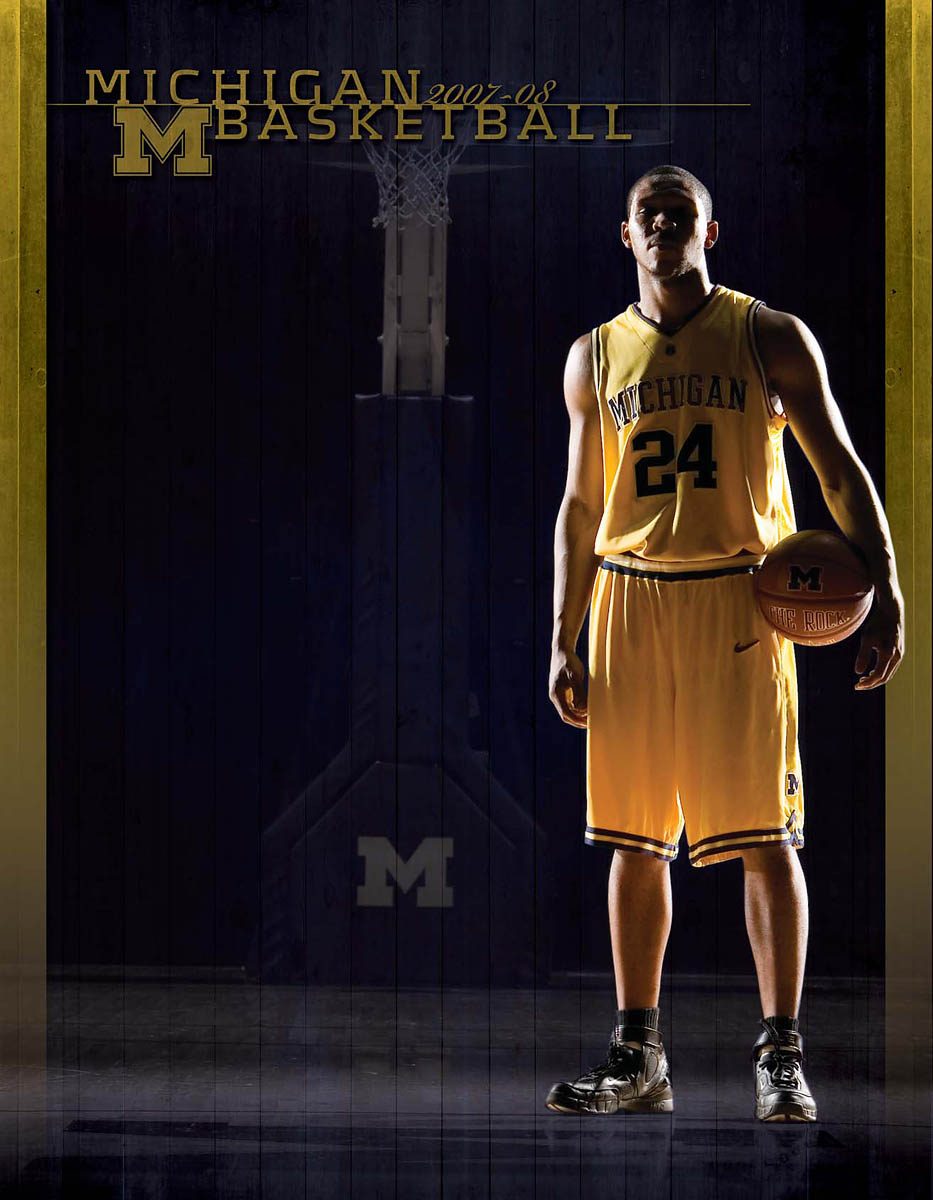 University of Michigan men's basketball media guide cover